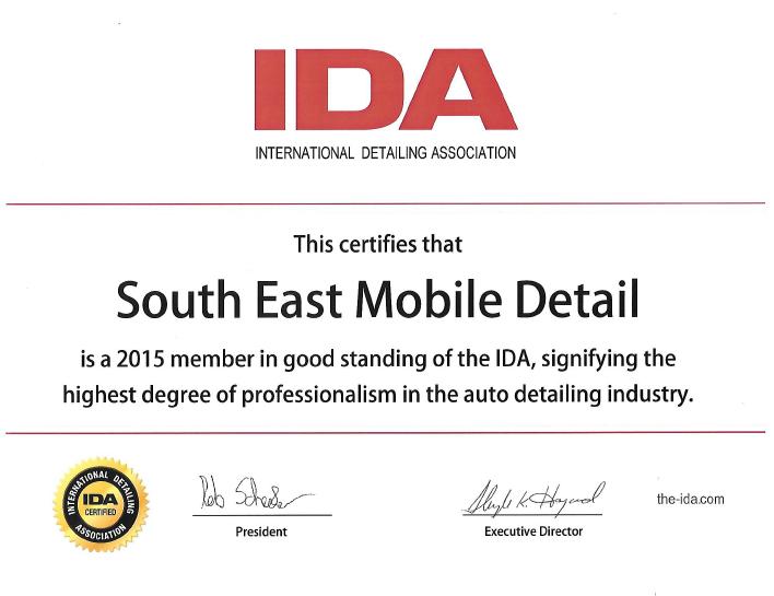 IDA Certificate